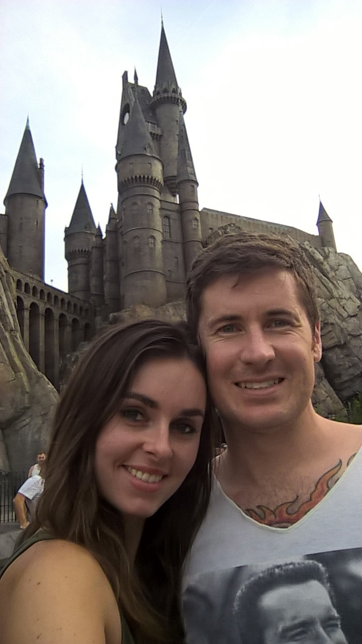 Harry Potter castle at Universal Studios