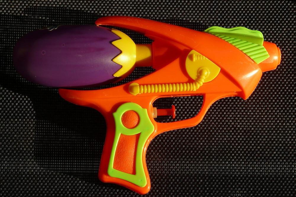 Squirt gun for a fun week in Thailand during Songkran