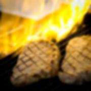 Bife de Chorizo grelhando