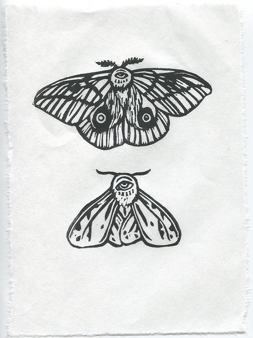 """Nocturnal Sight"" Linocut Print"