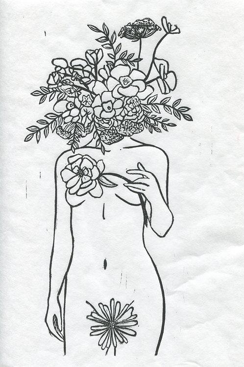 """""""Always Growing"""" Linocut Print"""