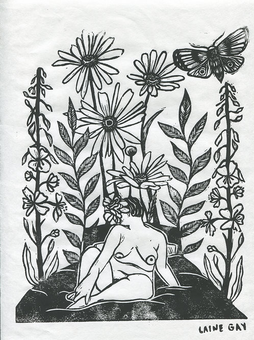 """Self Love"" Linocut Print"