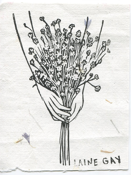 """""""Be Gentle"""" Linocut Print"""