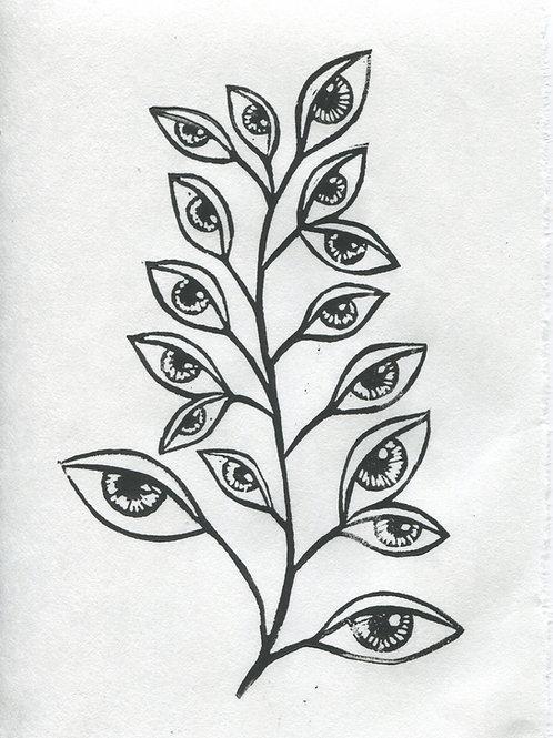 """Eye-vy"" Linocut Print"