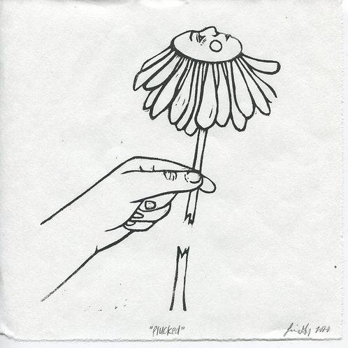 """Plucked"" Linocut Print"