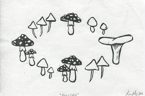 """Fairy Circle"" Linocut Print"