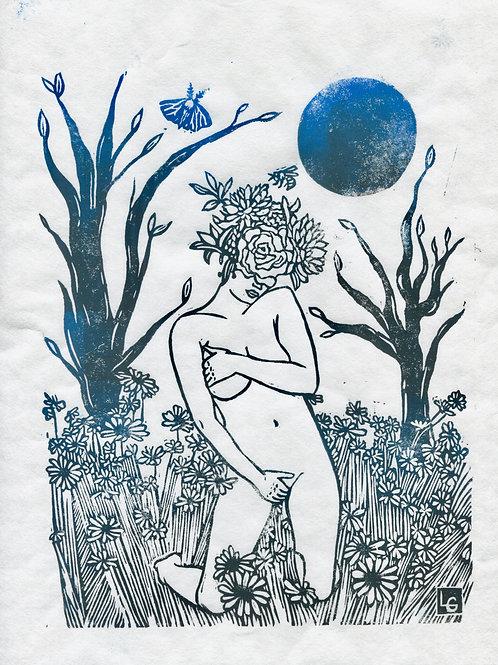 """Flourish"" Linocut Print"