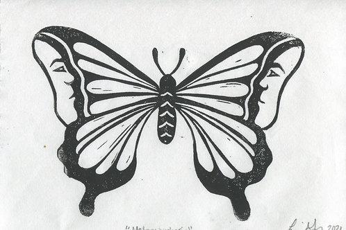 """""""Metamorphosis"""" Linocut Print"""