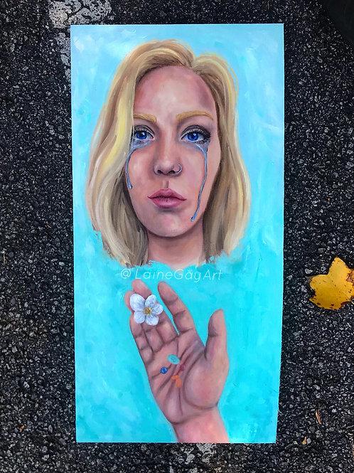 """""""Overwhelmed"""" Oil Painting"""