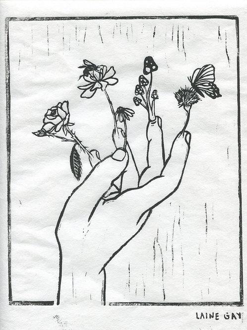 """Sprouting"" Linocut Print"