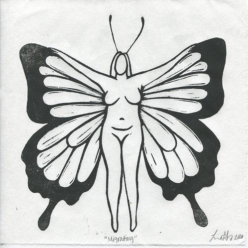 """Migration"" Linocut Print"