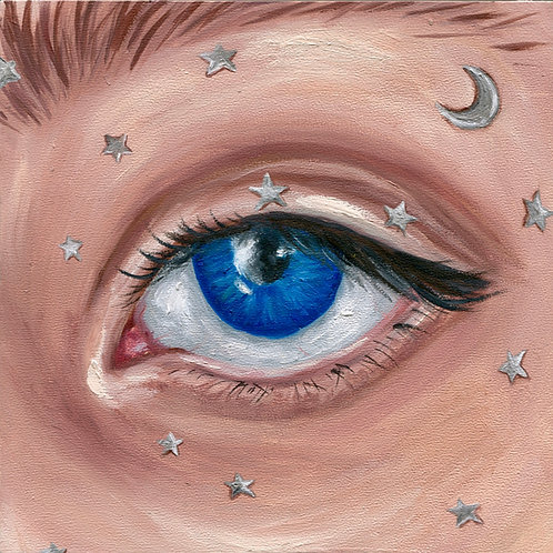 """""""Starry Eyed"""" Oil Painting"""