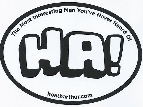 HA! Interesting Man Sticker