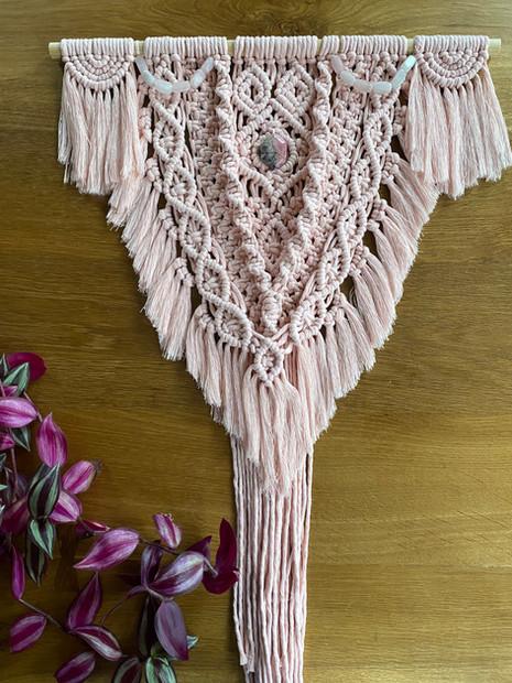 Blush pink wall hanging