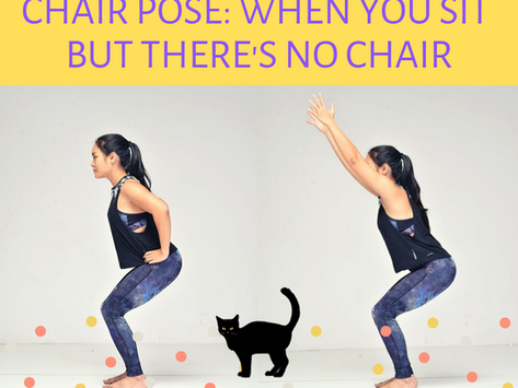 Best Yoga poses for beginners: Standing Poses. Chair Pose.