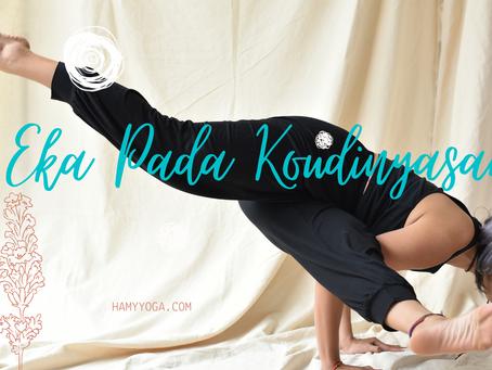 EKA PADA KOUDINYASANA: thăng bằng tay đẹp mắt trong Yoga - EPK 1 & 2