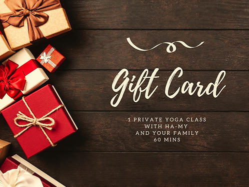 GIFT CARD: PRIVATE YOGA CLASS