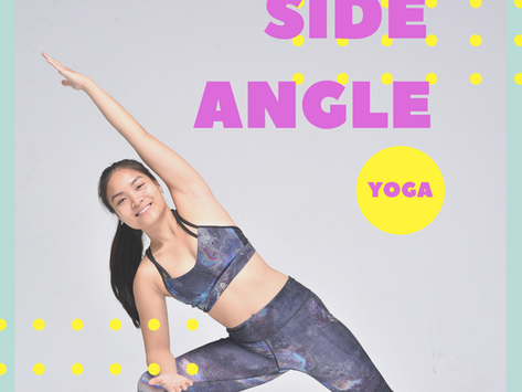 Yoga Pose for beginners: Side Angle Pose & bounded hands