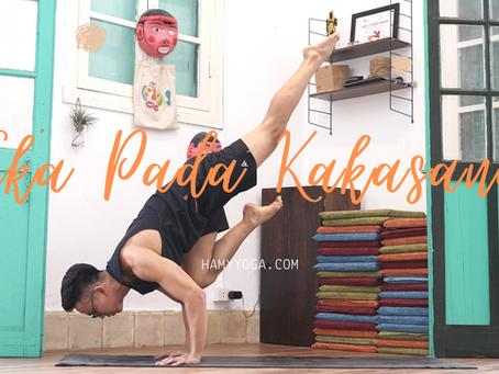 Eka Pada Kakasana - Cách làm tư thế Quạ 1 Chân trong Yoga