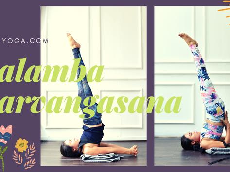 Prop Up: Shoulder Stand in Yoga - Salamba Sarvanganasana