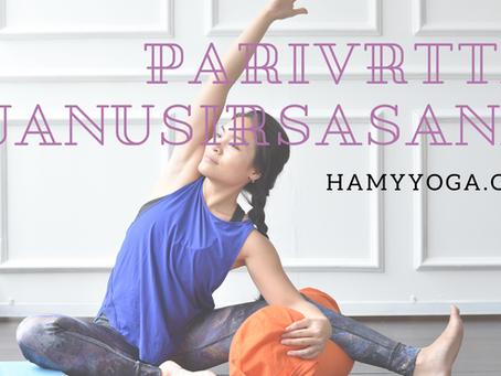 Parivrtta Janusirsasana - Vặn xoắn Đầu Chạm Gối