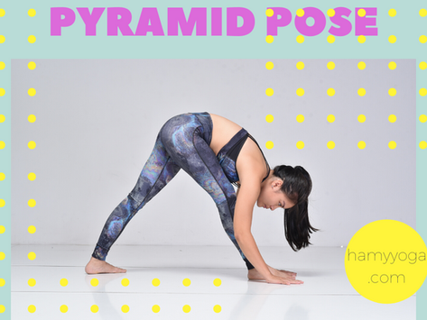 Stretch Hamstring in Yoga: Use Props to do Pyramid Pose