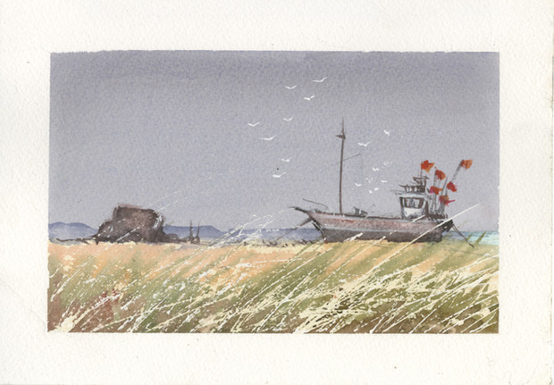 Fishing Boat at Dungeness.