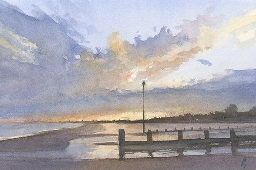 Sunset at Dymchurch Bay