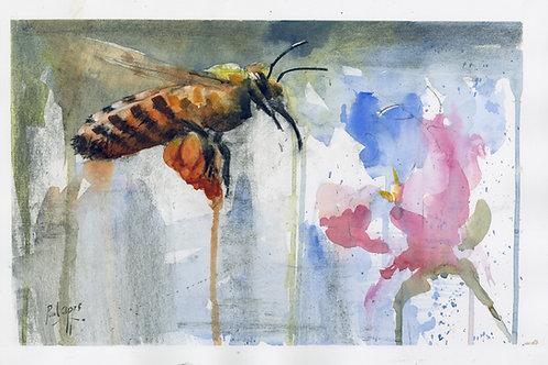 Honeybee (mixed media) SOLD