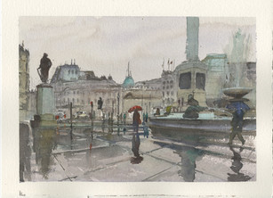 London in the wet