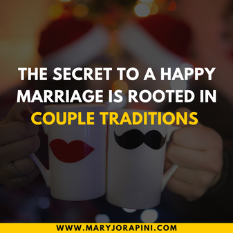 The Secret to a Happy Marriage is Rooted In Couple Traditions
