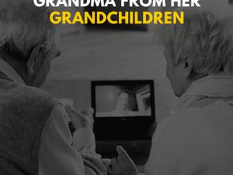 COVID-19 Can't Stop Grandma from Her Grandchildren