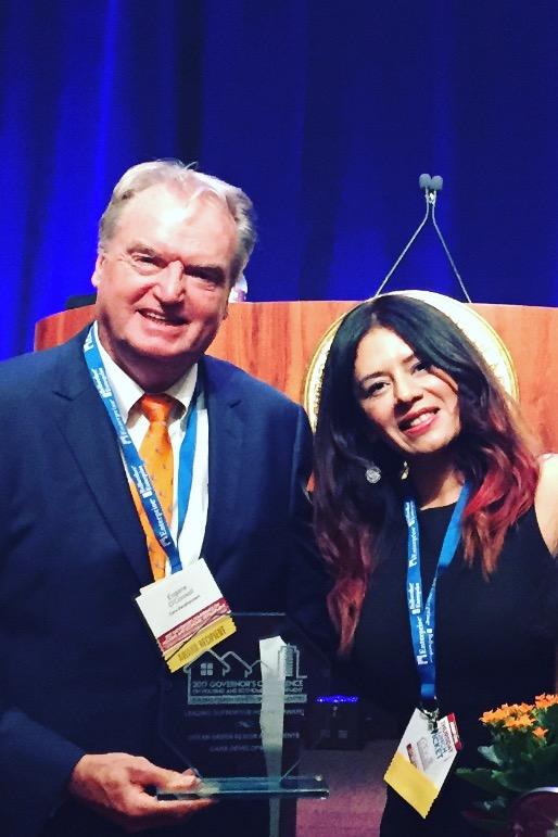 Eugen O'Connell and Odra Rodas, Social Services Coordinator