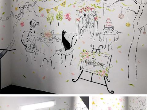 壁画(株式会社マイプリント本社)wallart: myprint office