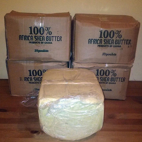 Shea Butter (Vitellaria Paradoxa)25lb Raw Unrefined Ivory,100% Pure and Natural