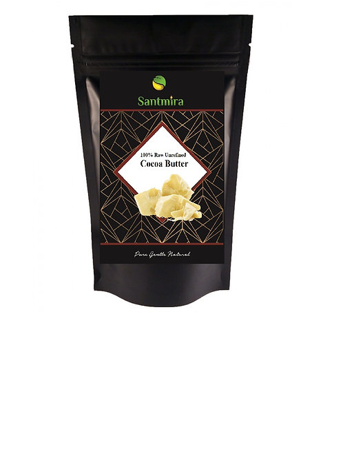Raw Cocoa Butter Raw Cold Pressed 100% Organic & Pure~ BY SANTMIRA