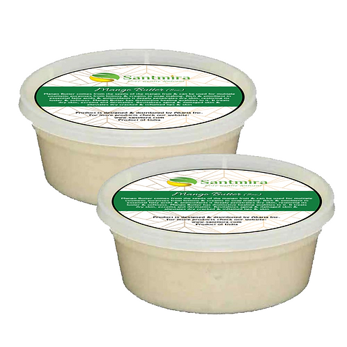 Santmira Raw Mango Butter 8 oz tub 100% Pure from India Natural For Skin, Face,