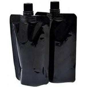 Stand Up Spout Liquid Bag Flask Pouch With Cap ~ BLACK ~ 16oz