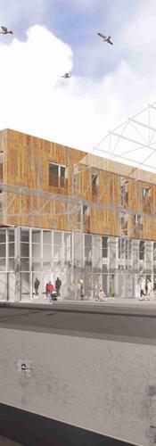 Reconversion d'un site dans le CDQ «Petite Senne». Démolition et construction de logements intergénérationnels à caractère social, d'espaces polyvalents pour ateliers Upcycling liés au recyclage et au vélo et cours extérieure à Molenbeek-Saint-Jean