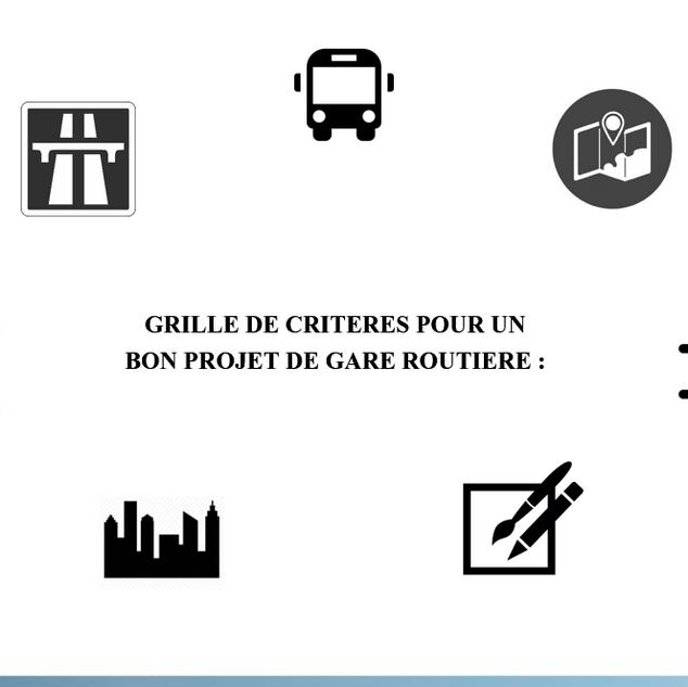 GRILLE DE CRITERES POUR UN BON PROJET DE GARE ROUTIERE :