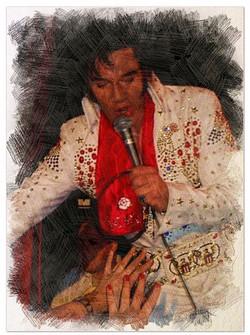 Kjell Elvis Painting with fans