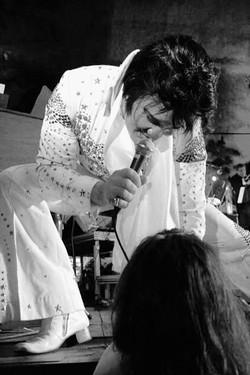 kjell Elvis with a fan.