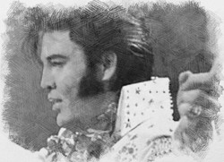 Kjell Elvis B&W Aloha From Hawaii
