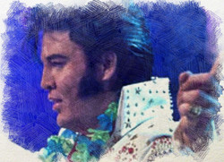 kjell Elvis painting Aloha From Hawi