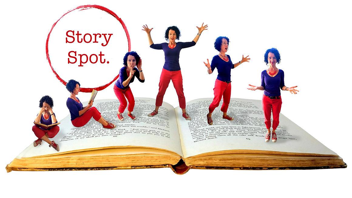 Story Spot's Karen Eastwood Storyteller makes stories come alive!