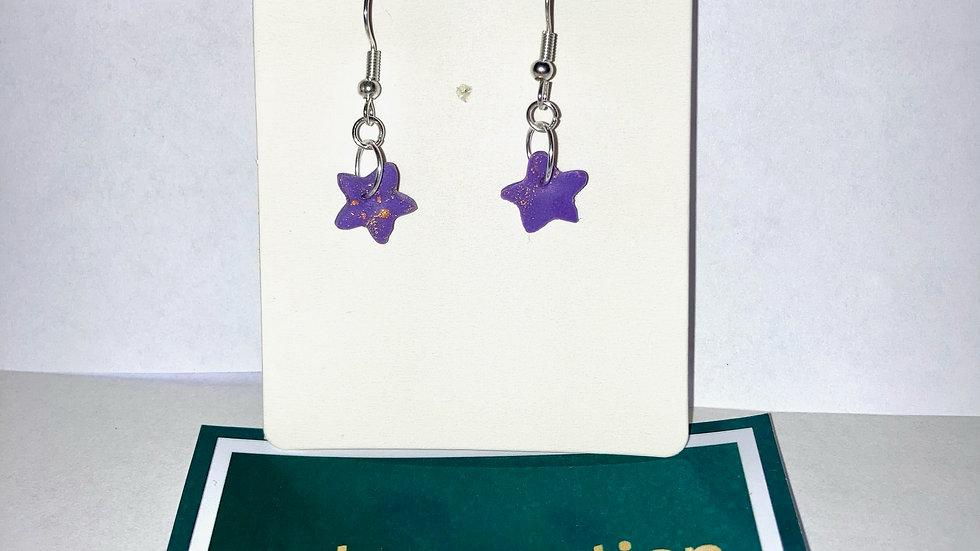 Hint of Gold Purple Stars