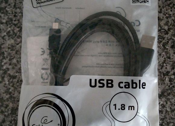 Cabo USB para Mini USB