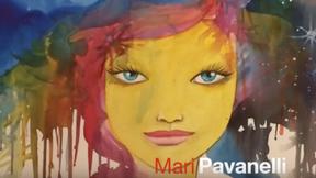 Artista lê poesia para criar imagens líricas