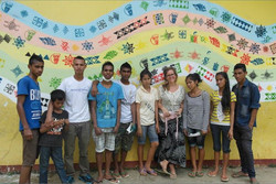 Mural at Primary School no 3, awesome crew and the school are supa stoked!!