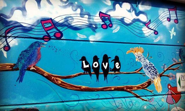 #inscribeyoutharts mural project _ #oceanshores #love #streetart #birdlove #karmaarts #graffitiart #